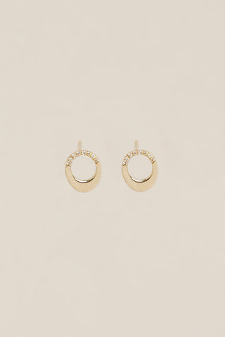 Pavé Small Egg Earring Set