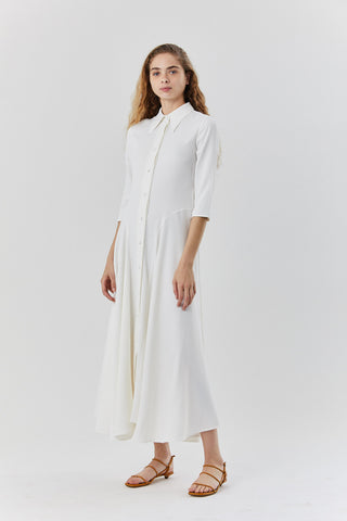 katie dress, ivory