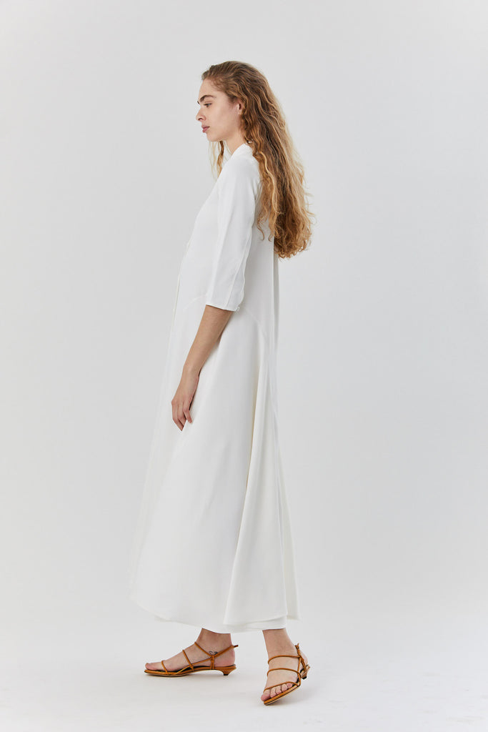 KHAITE - katie dress, ivory