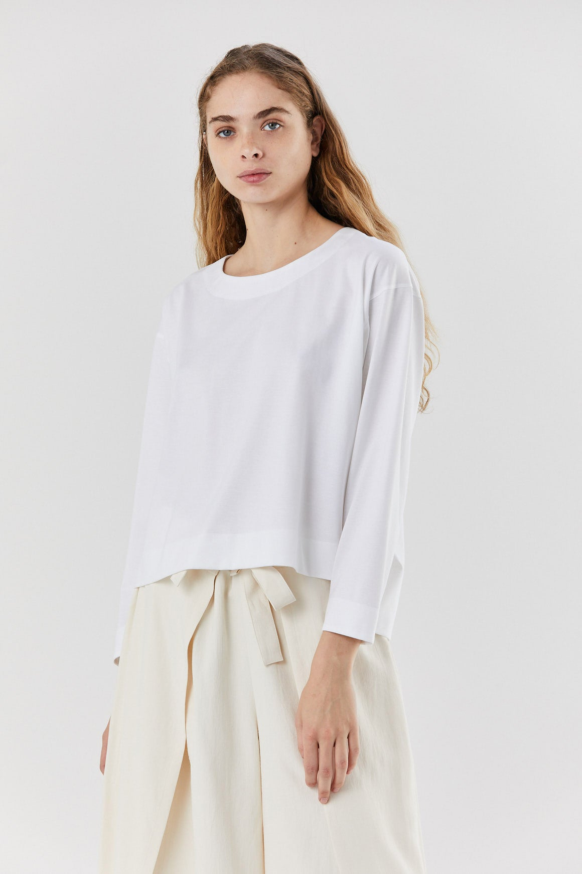 Pleats Please by Issey Miyake - easy-t shirt, white
