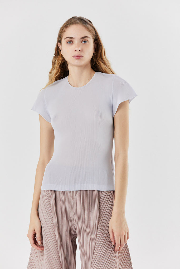 Pleats Please by Issey Miyake - mist march top, Ice Gray