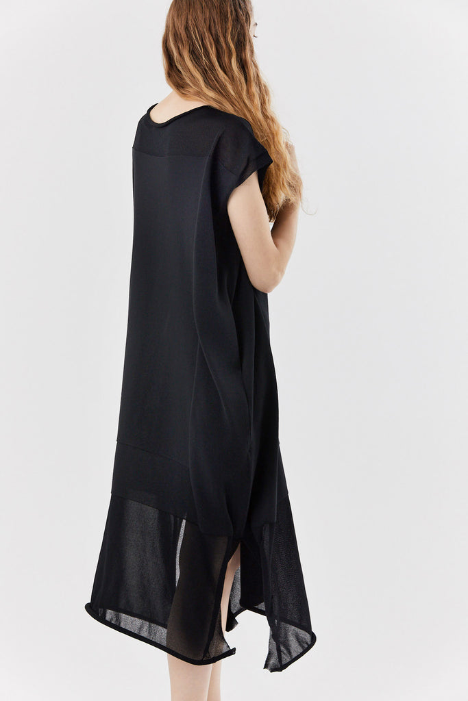 Issey Miyake - kite knit dress, black