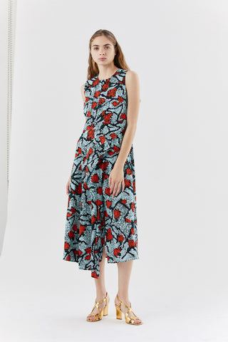 DAMARI sleeveless dress, Red Iris