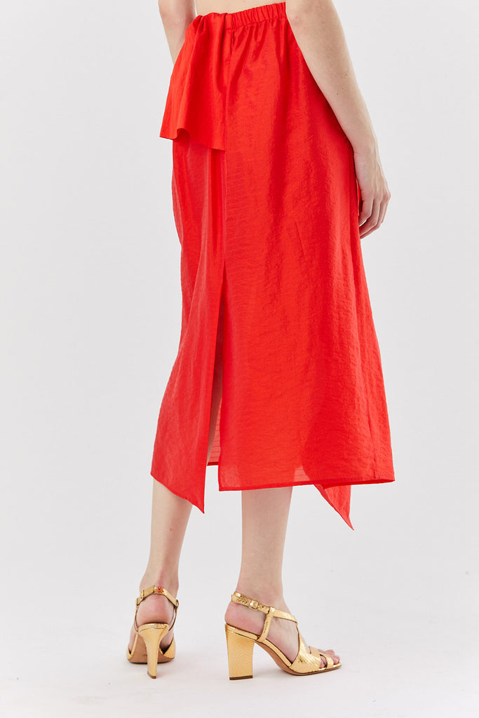 Christian Wijnants - SASHA ruffle skirt, Red
