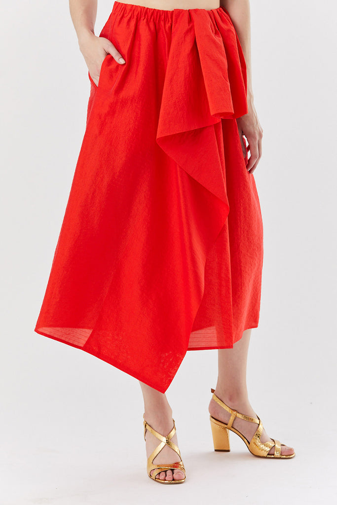 SASHA ruffle skirt, Red