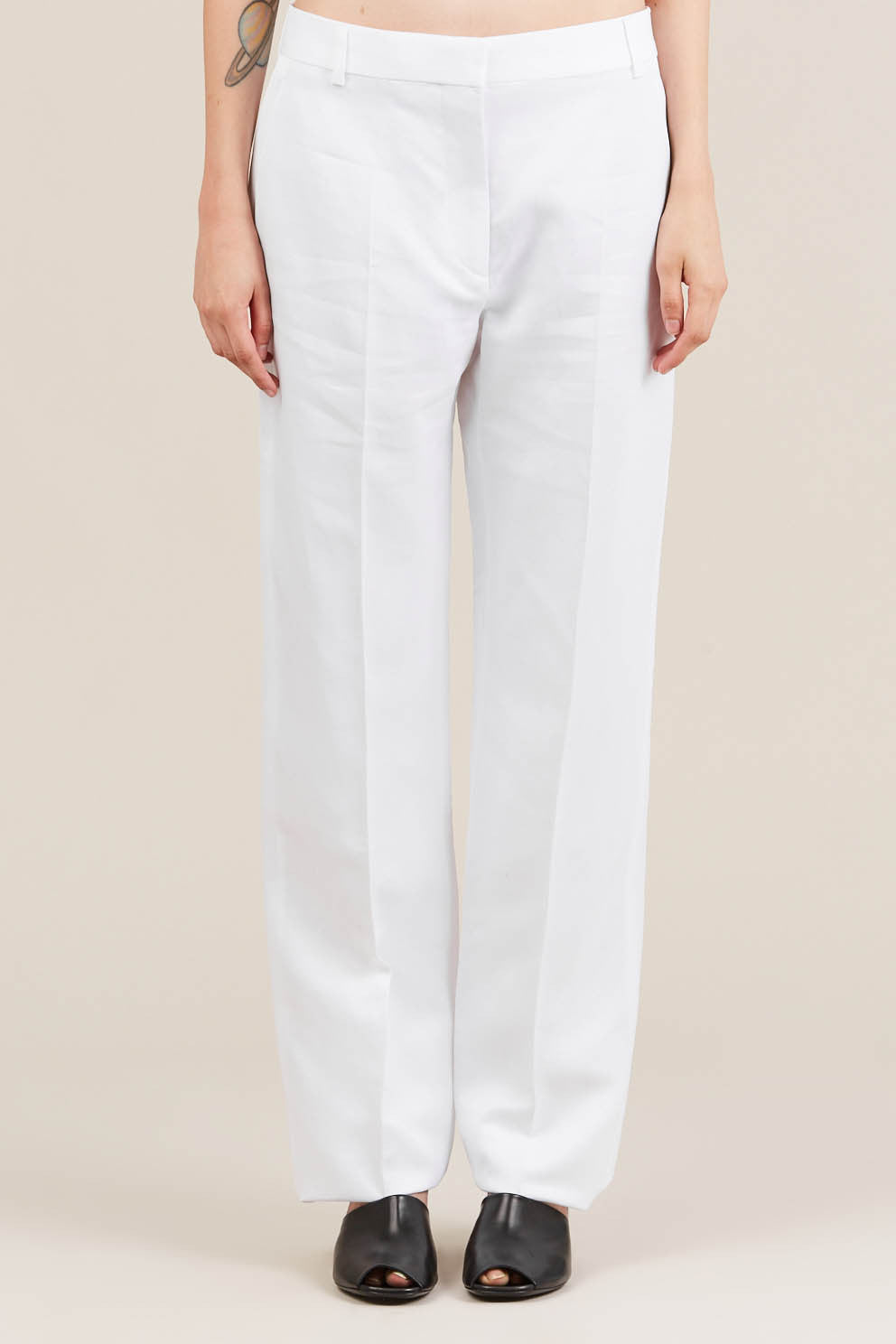 Straight leg trouser, White - Jil Sander