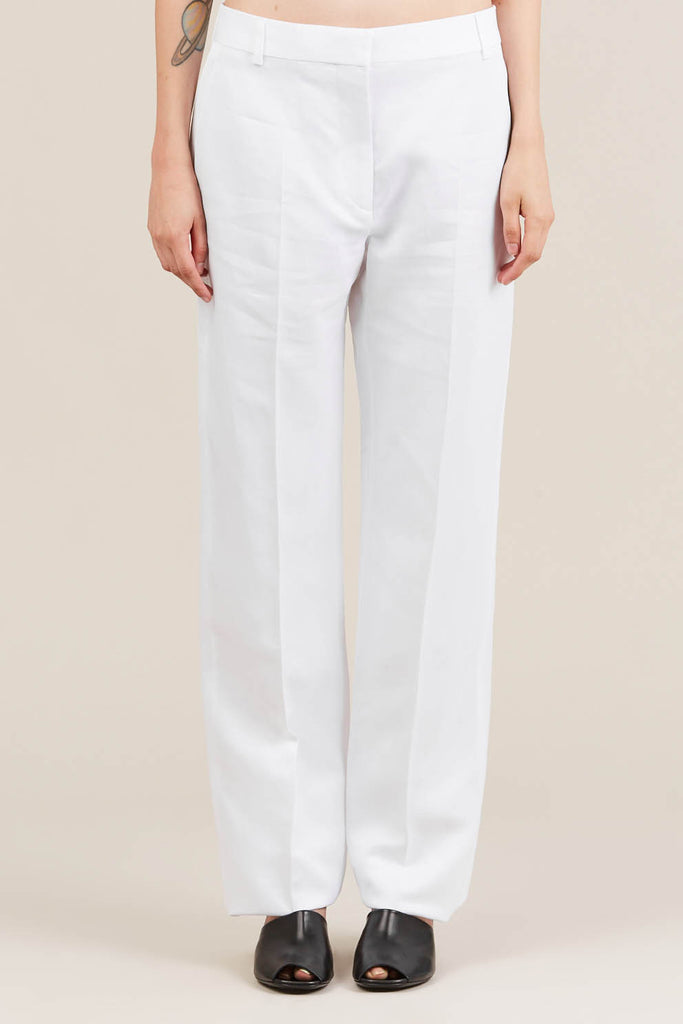 Straight leg trouser, White