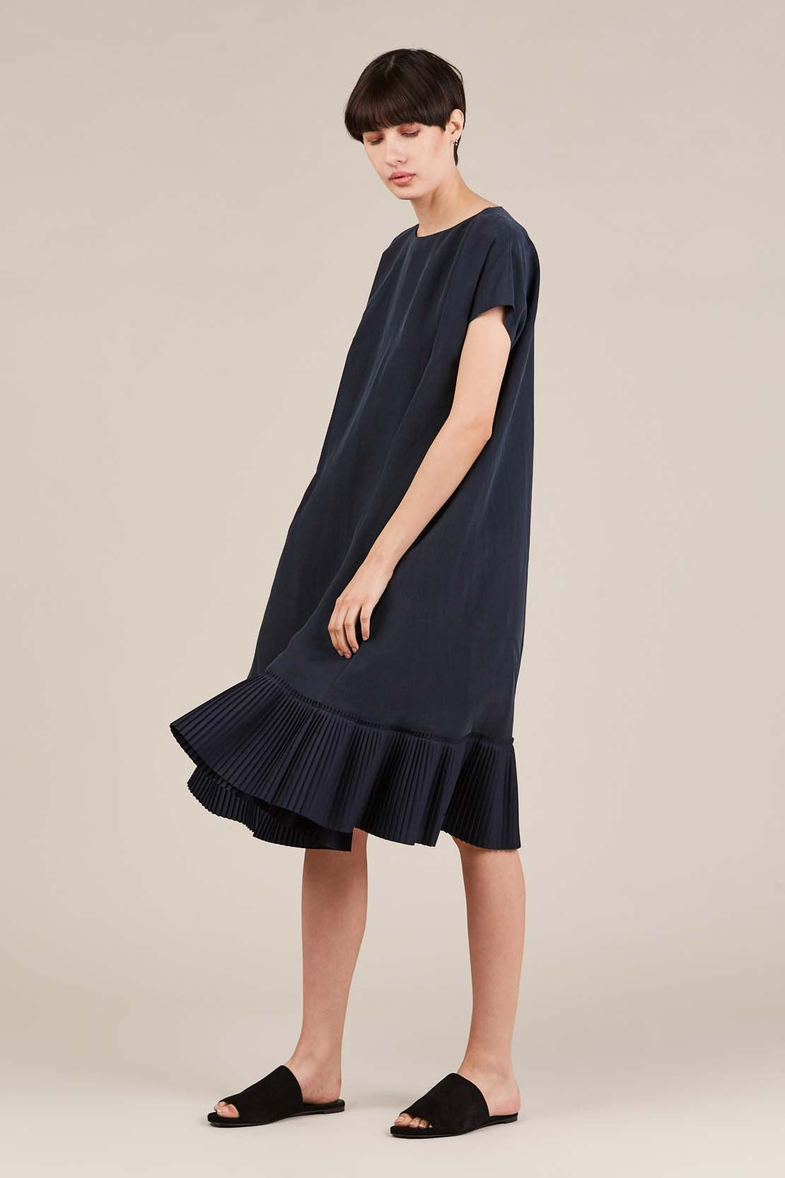 Mama silk dress, Navy by Samuji