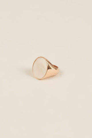 Ring with Marble, Rose Gold