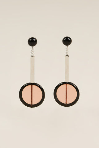 Jo earrings, Rust