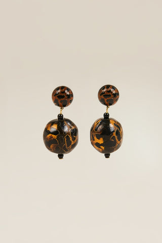 Paso earrings, Leopard
