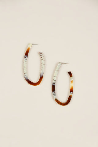 Maya Earrings, Striped