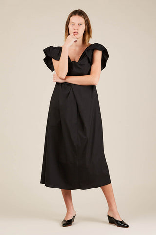 Crush dress, Black