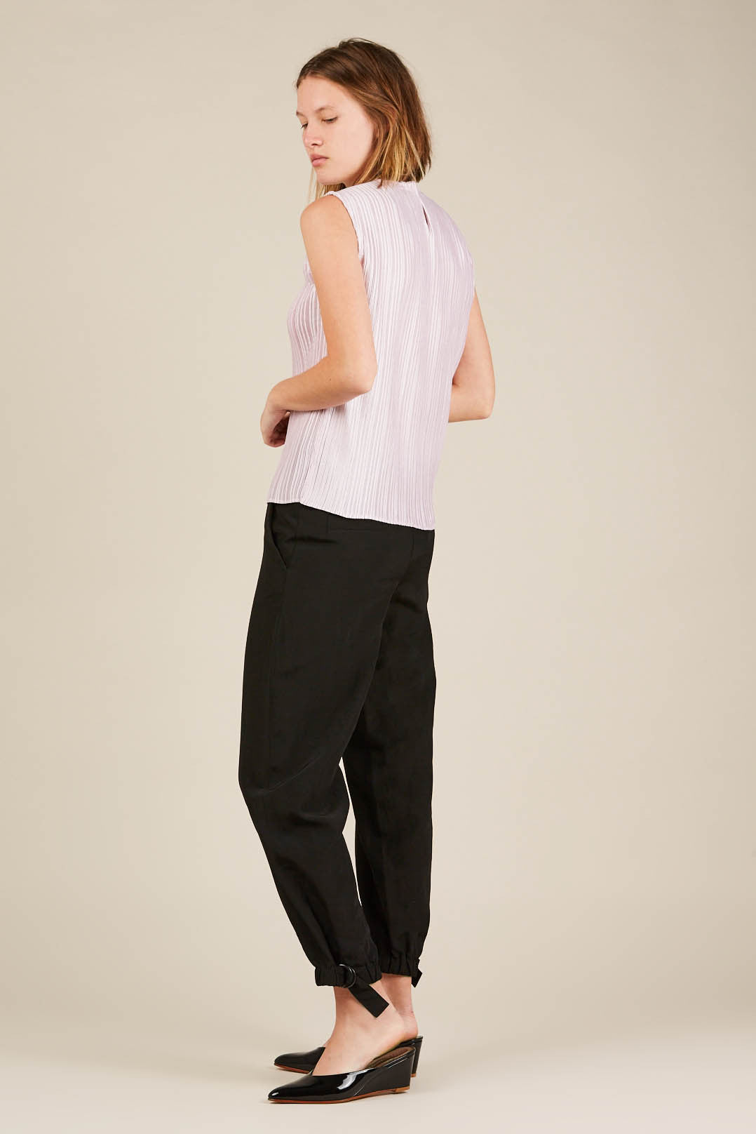 Pine Trouser with Belt Black, Christian Wijnants