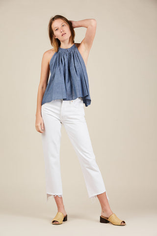Galisteo top, Chambray