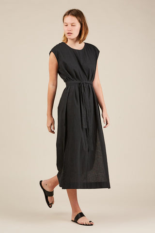 Column dress, Black