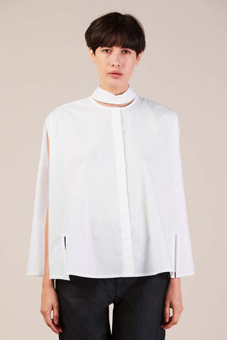 Bo cape shirt, White