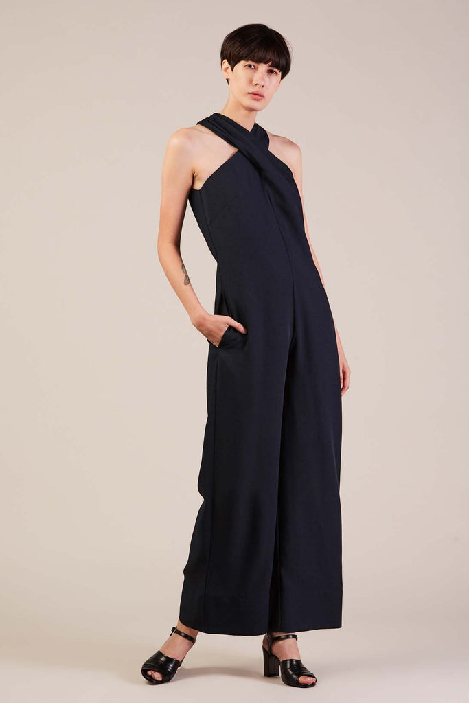 Overlay jumpsuit, midnight