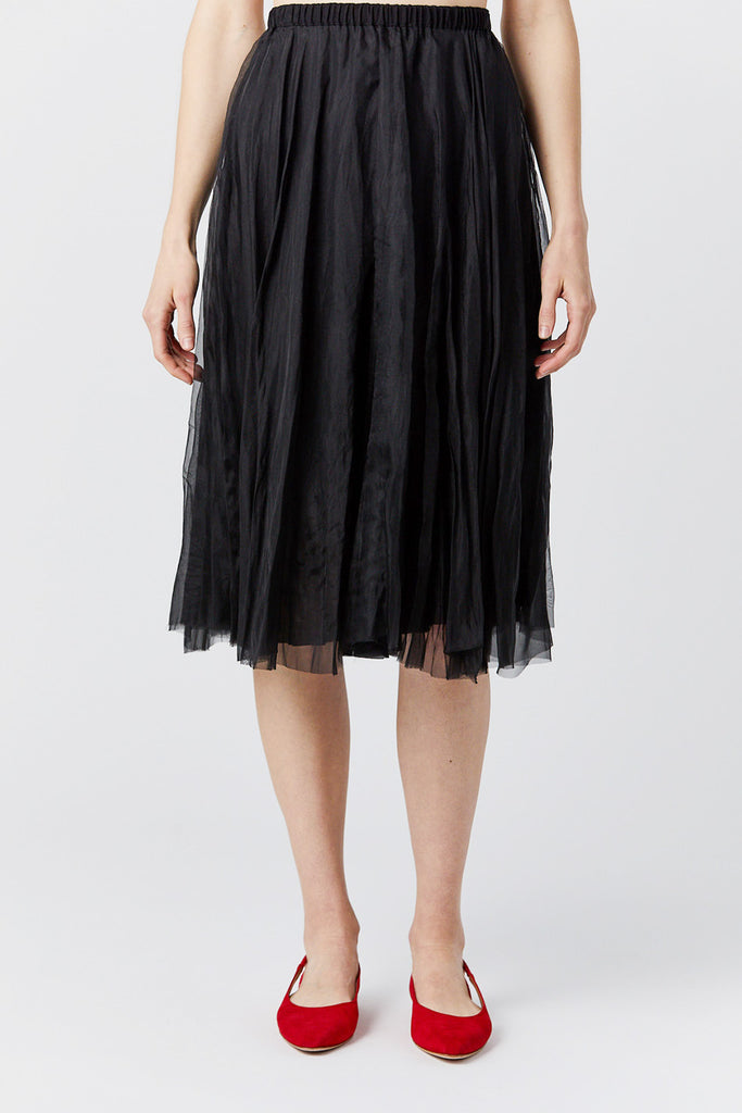Louiza Babouryan - organza skirt, black