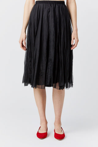 organza skirt, black