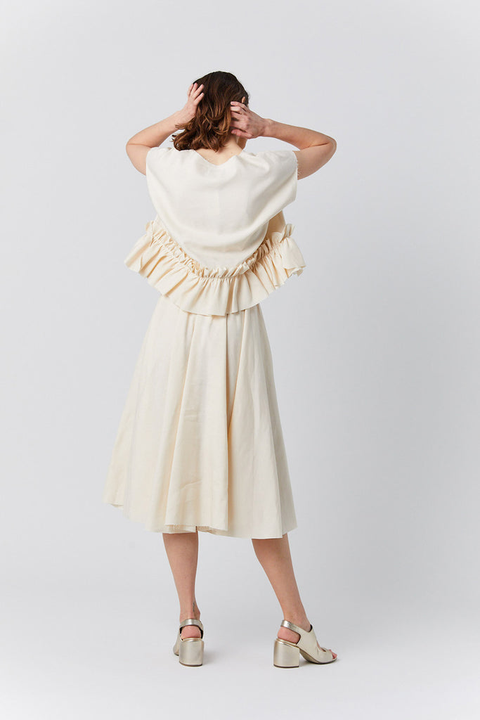 Louiza Babouryan - silk and linen top, natural