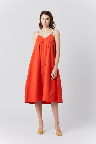 extrafine cotton dress, tomato