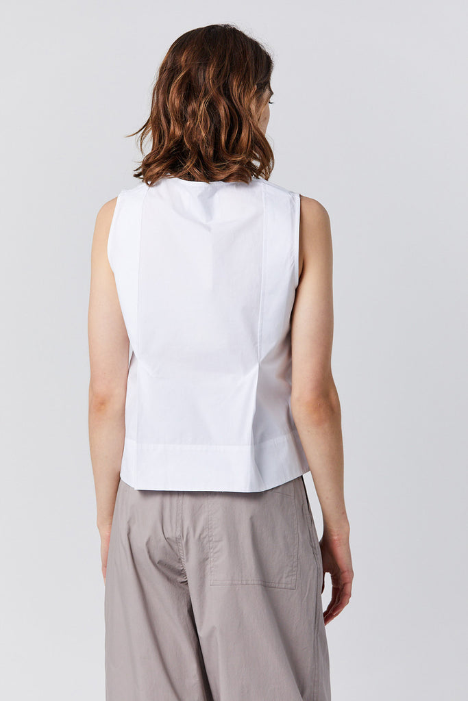 Studio Nicholson - FLATLEY powder cotton tank, white