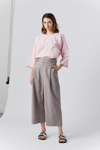 GRETA extrafine cotton trouser, plaster