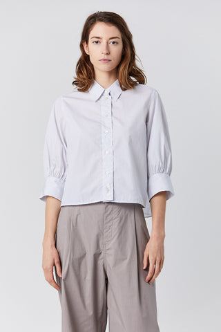BAHIA stripe pumino top, grey and white