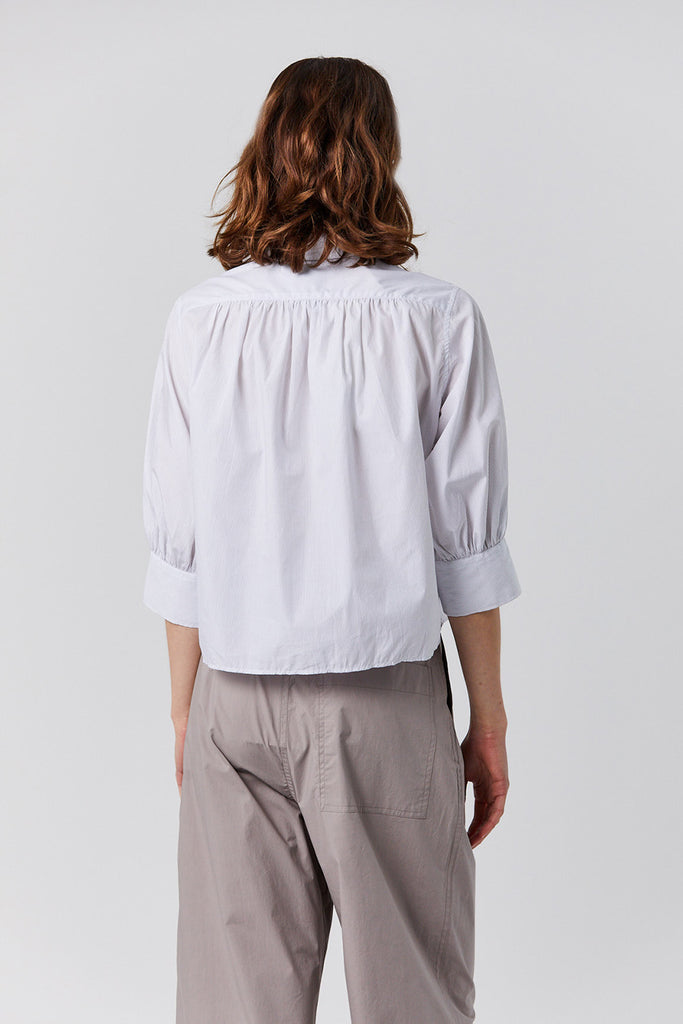Studio Nicholson - BAHIA stripe pumino top, grey and white