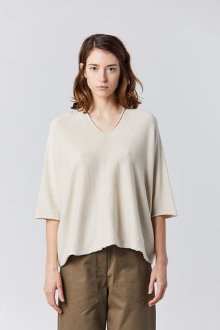 horizontal huipil sweater, ecru