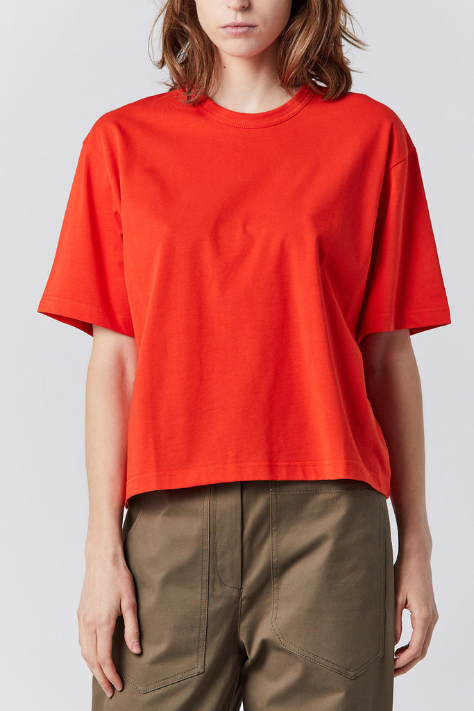 Studio Nicholson - LEE cotton tee, tomato