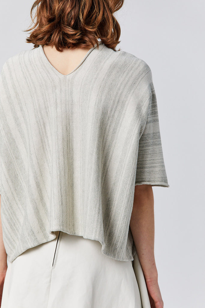 Lauren Manoogian - horizontal huipil sweater, marl