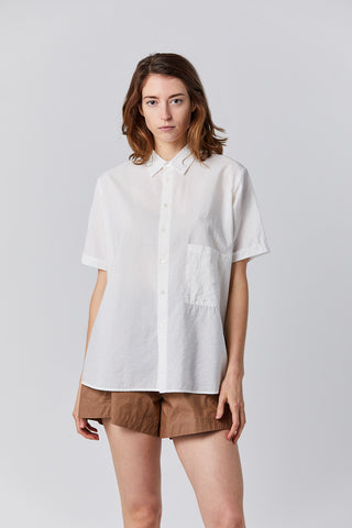 elma short sleeved shirt, white