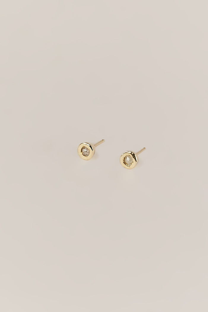 Tiny Dot Studs, Rose & Gold - Dream Collective