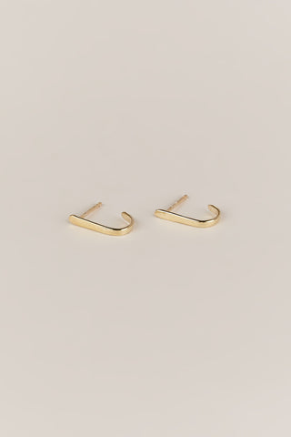 Curved Bar Studs, Gold