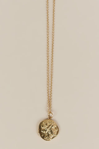 Athena Coin Necklace, Gold