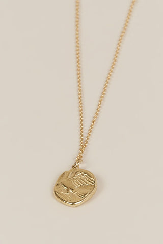 Chimera Coin Pendant, Gold