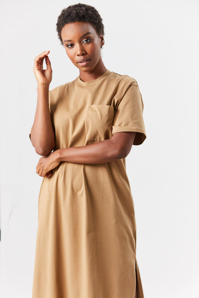 Studio Nicholson - BOYD t-shirt dress, tan