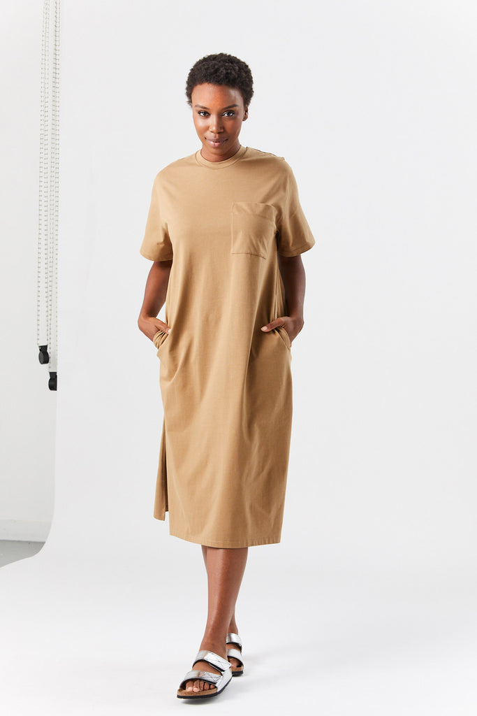 BOYD t-shirt dress, tan