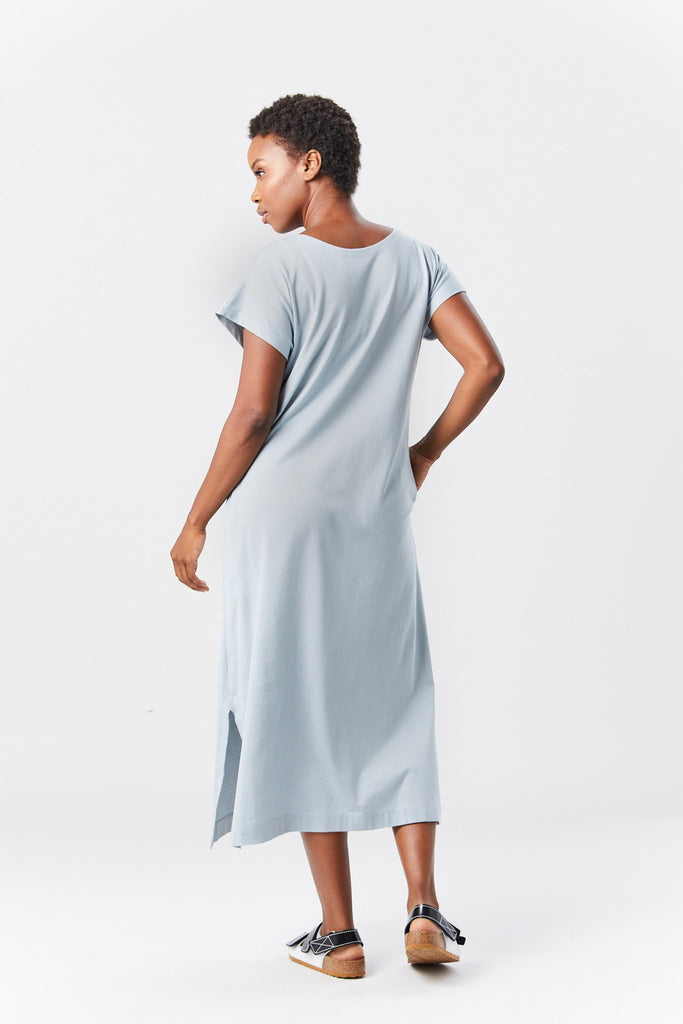 easy tee dress, pale blue