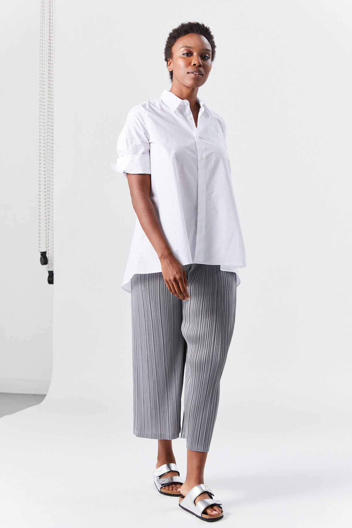 Pleats Please by Issey Miyake - monthly colors pant, grey