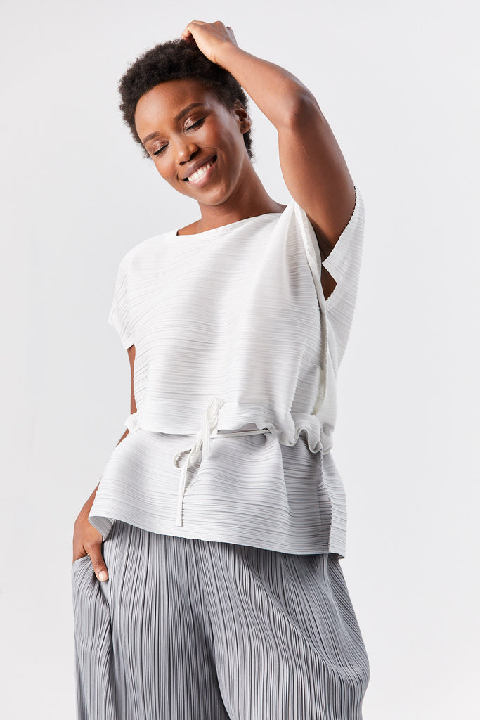 stone gradation top, white and grey
