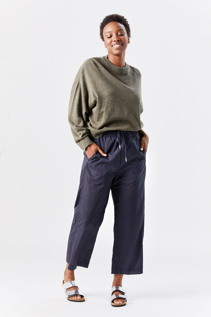 Hope - whish trouser, navy