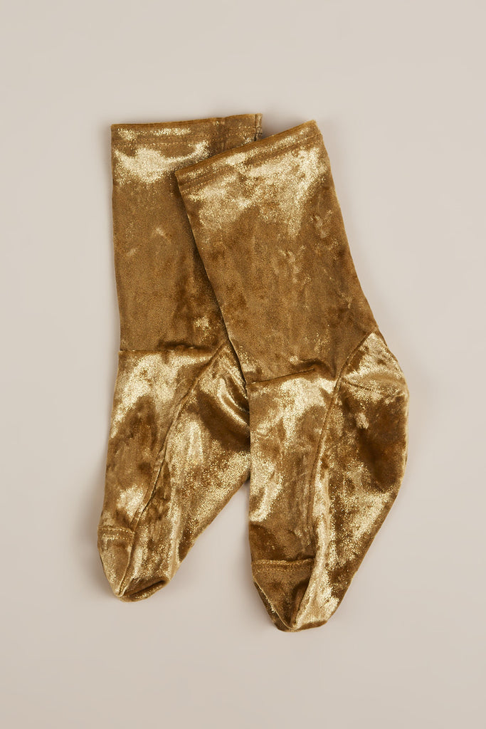 Velvet Socks, Gold