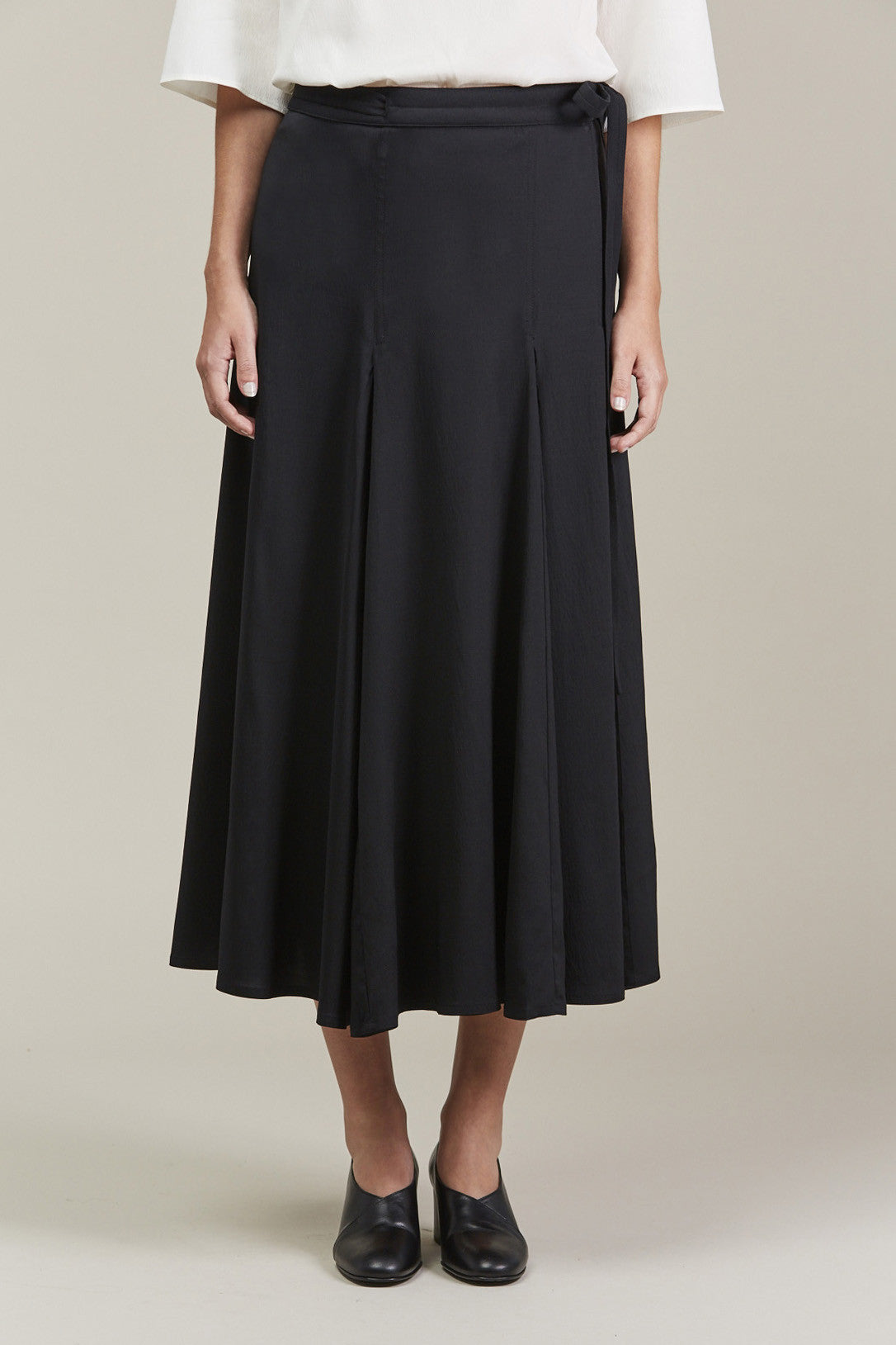 Wrap Over Skirt, Black by Lemaire @ Kick Pleat - 1