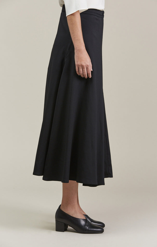 Wrap Over Skirt, Black by Lemaire @ Kick Pleat - 5