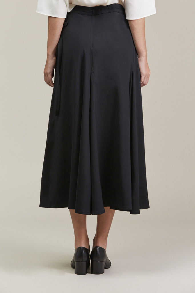 Wrap Over Skirt, Black by Lemaire @ Kick Pleat - 6