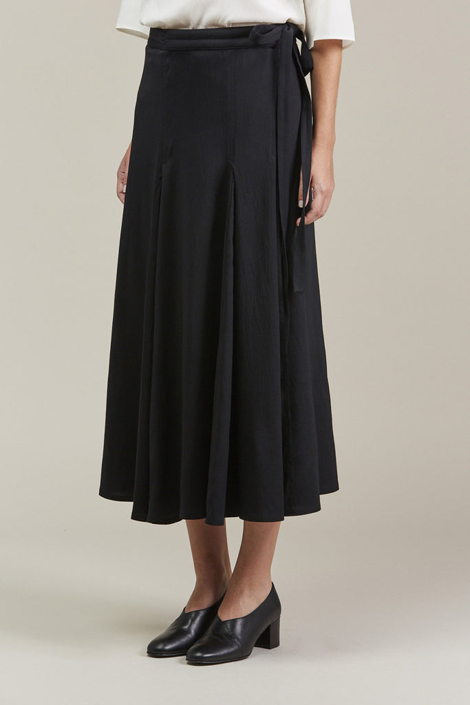 Wrap Over Skirt, Black by Lemaire @ Kick Pleat - 4