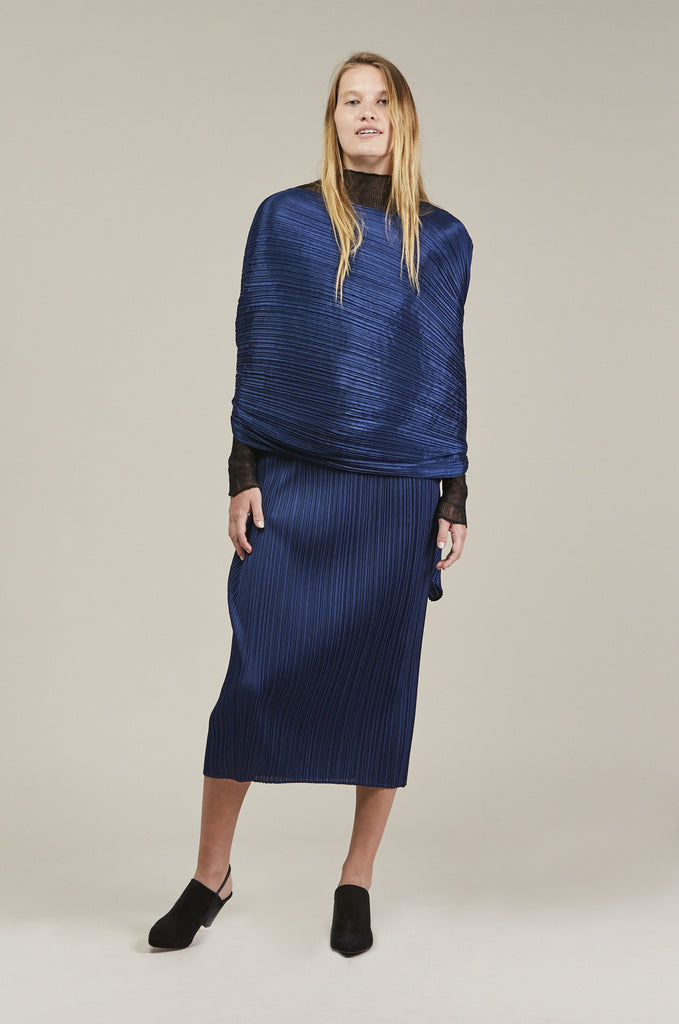 Madame - T Scarf, Blue by Pleats Please by Issey Miyake @ Kick Pleat - 1